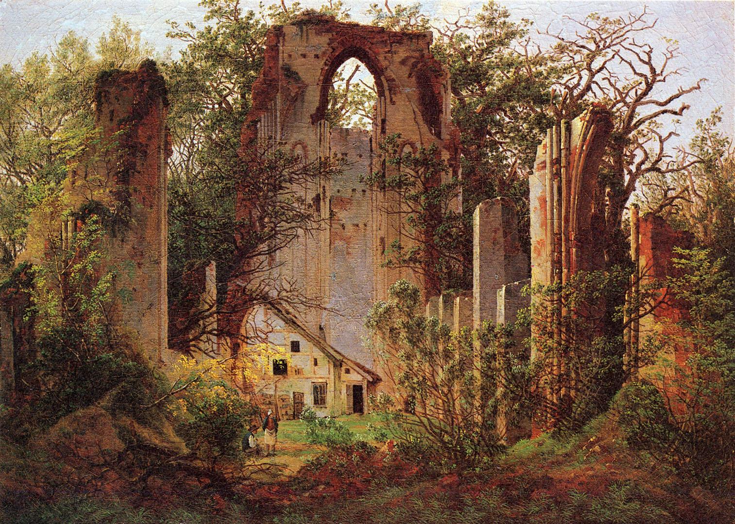 03 Caspar_David_Friedrich_Ruïnes van het klooster Eldena